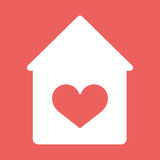 House with heart vector icon. Royalty Free Stock Photo