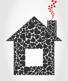 House of hearts Royalty Free Stock Photos