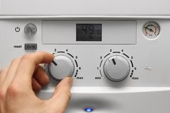 House heating boiler Stock Image