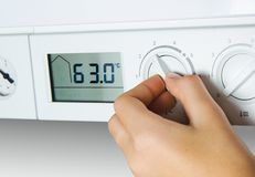 House heating boiler Royalty Free Stock Photo