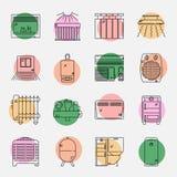 House Heating Icon Set vector illustration