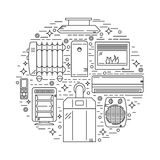 House Heating Vector Illustration Stock Images