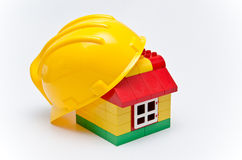 House and helmet Royalty Free Stock Photography