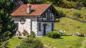 house in high mountains Alps Italy Royalty Free Stock Photos