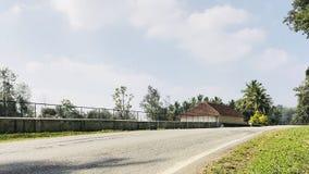 House on highway. At Gonikkopal, Karnataka, India Royalty Free Stock Photography