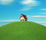 House on hill Stock Photos