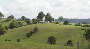 House on a hill stock photos