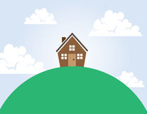 House on a Hill Royalty Free Stock Photos
