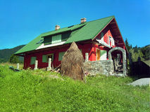 House in the hill. Romanian mountain house Stock Photo