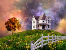 House on the Hill Royalty Free Stock Images