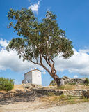 The house on the hill at Baccialu in Corsica Royalty Free Stock Photos