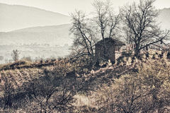 House on the hill Royalty Free Stock Photos