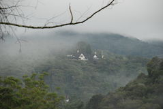 House of a foggy hill. House on a hill - fog and mist in Cameron Highlands Malaysia Royalty Free Stock Photo