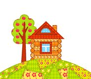 House on the hill isolated Royalty Free Stock Photo