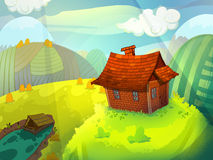 House on the hill. Royalty Free Stock Photography