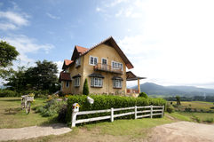 House On The Hill. At Pai Chaingmai, Thailand Royalty Free Stock Photo