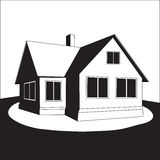 House on a hill. Vector. Royalty Free Stock Image