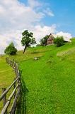 House on hillside Royalty Free Stock Images