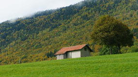 House at hillside in Europe. Stock Photography
