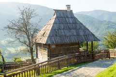 The house on the hillside in Kusturica Drvengrad in Serbia royalty free stock photography
