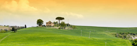 House on hilltop Stock Image