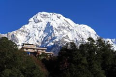 House,the Himalaya mountain peak Royalty Free Stock Image