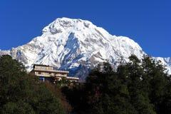 House,the Himalaya mountain peak Royalty Free Stock Image