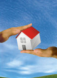 House in his hands Stock Photos