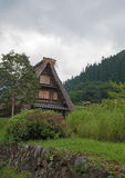 House in historic village Shirakawa-go, Gifu prefecture, Japan Royalty Free Stock Photo