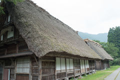 House in historic village Shirakawa-go, Gifu prefecture, Japan. Gassho-zukuri houses in Gokayama Village. Gokayama has been inscribed on the UNESCO World Stock Photography
