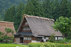 House in historic village Shirakawa-go, Gifu prefecture, Japan Royalty Free Stock Photos
