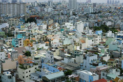 House at Ho Chi Minh city, view from sky building in Ho Chi Minh city Stock Images