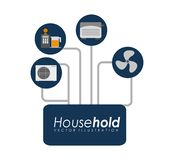 House hold design Royalty Free Stock Images