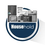 House hold design Royalty Free Stock Image