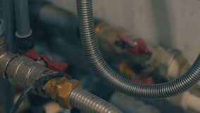 House hold water pipe and plumbing royalty free stock photos
