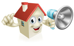 House Holding Megaphone Stock Photography