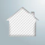 House Hole Checkered Background Stock Photo