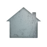 House Hole Concrete White. House shape with concrete background in the hole Stock Images