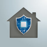 House Hole Digital Protection Shield Royalty Free Stock Photography