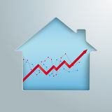 House Hole Growing Chart. House hole with growth chart Royalty Free Stock Photo