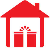 House and holiday gift Stock Photos