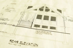 House Home Blueprints Plans Royalty Free Stock Photography