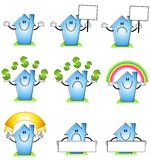 House and Home Cartoons Royalty Free Stock Photography