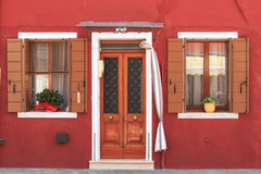 House and Home in Colour, Burano, Venice Royalty Free Stock Images