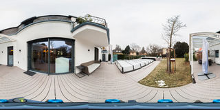 House home 360 degree panorama stock images