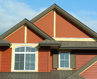 House Home Exterior Roof Details stock photo