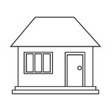 House home family residential outline. Vector illustration eps 10 Royalty Free Stock Image