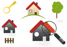 House & Home Icons. A collection of house and home symbols and icons Stock Photos