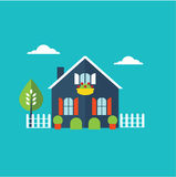 House home illustration royalty free illustration