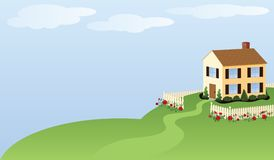 House and Home Illustration stock illustration